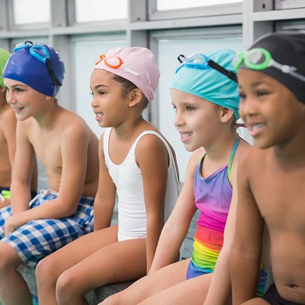 Kids Swimming World's Largest Swim Lesson