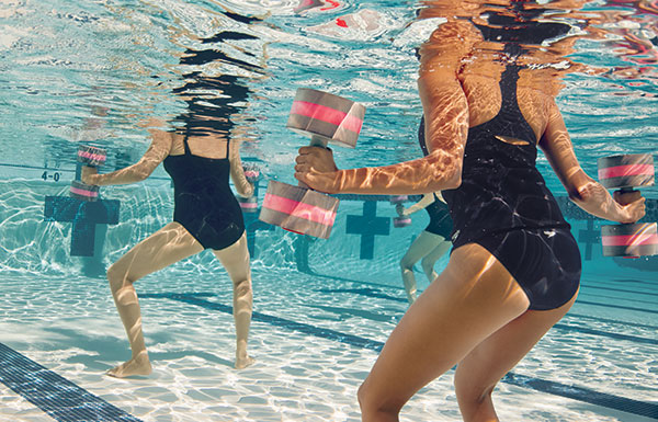 Upper Body Water Workouts With Kiefer Dumbbells Swim Blog