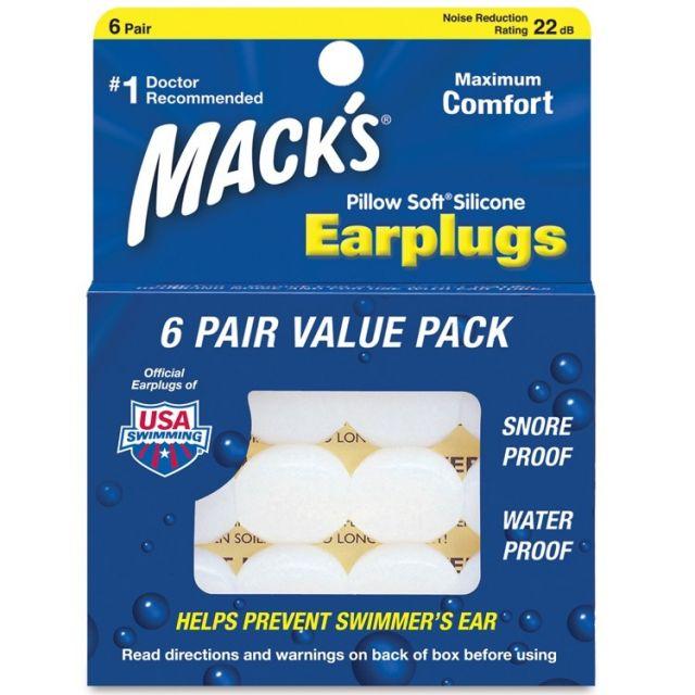 Mack's Pillow Soft Earplugs 6 Pair