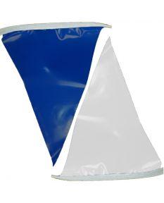 50 ft. Polyethylene Flags-Blue/White