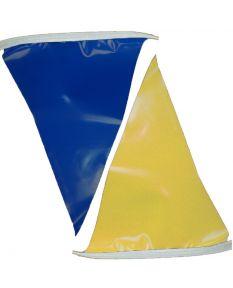 100 ft. Polyethylene Flags-Blue/Gold