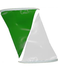 50 ft. Polyethylene Flags-Green/White