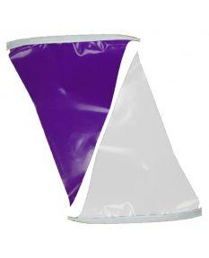 50 ft. Polyethylene Flags-Purple/White