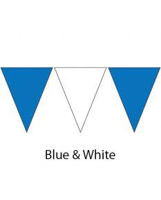 Plastic Backstroke Flags - 45 Ft. (Pair)-Blue/White
