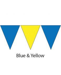Kiefer Plastic Flags - 100 Ft. (Pair)-Blue/Yellow