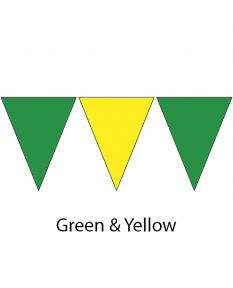 Kiefer Plastic Flags - 100 Ft. (Pair)-Green/Yellow