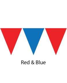Kiefer Plastic Flags - 100 Ft. (Pair)-Red/Blue