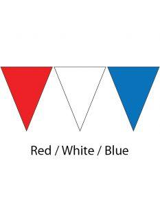 Plastic Backstroke Flags - 45 Ft. (Pair)-Red/White/Blue