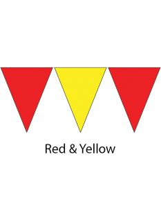 Kiefer Plastic Flags - 100 Ft. (Pair)-Red/Yellow