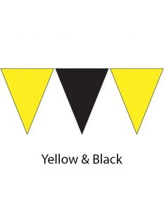 Plastic Backstroke Flags - 45 Ft. (Pair)-Black/Yellow