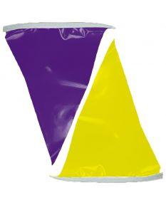 100 ft. Polyethylene Flags-Purple/Yellow
