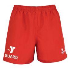 Kiefer YMCA Guard Essentials Unisex Deck Short-Red-XSmall
