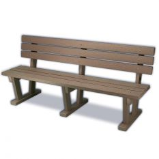 Plastic Bench with Backrest