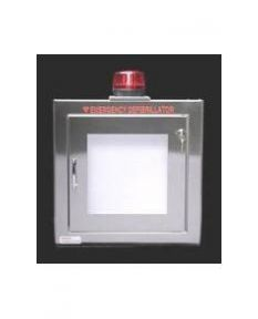 Stainless Steel Wall Mount AED Cabinet w/Alarm