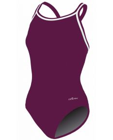 Dolfin Solid Poly DBX Back - Color - Maroon,Size - 22