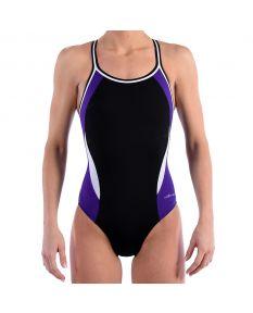 Dolfin Reliance Color Block DBX Back - Size - 22,Color - Black/Purple/White