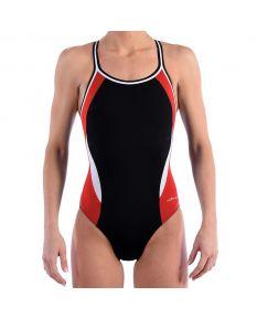 Dolfin Reliance Color Block DBX Back - Color - Black/Red/White,Size - 22