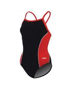 Dolfin Team Panel V2 Back - Color - Black/Red/White,Size - 22