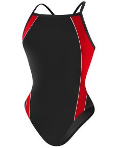 RISE Solid H-Back Poly Splice - Color - Black/Red,Size - 22