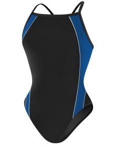 RISE Solid H-Back Poly Splice - Color - Black/Blue,Size - 24