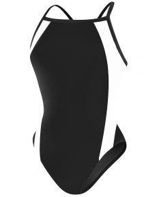 RISE Solid H-Back Poly Splice - Color - Black/White,Size - 22