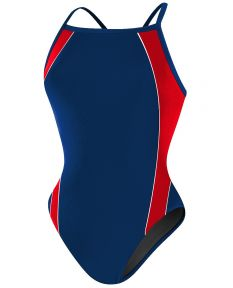 RISE Solid H-Back Poly Splice - Color - Navy/Red,Size - 22