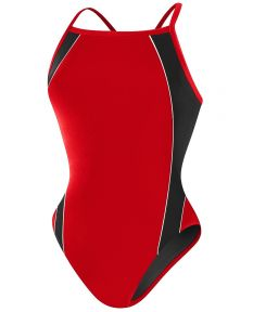 RISE Solid H-Back Poly Splice - Color - Red/Black,Size - 22