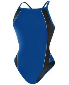 RISE Solid H-Back Poly Splice - Color - Royal/Black,Size - 22