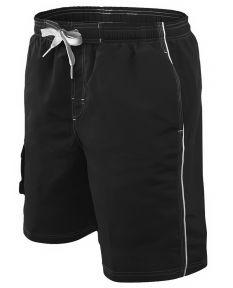 RISE Solid Male Flex Short - Color - Black,Size - Small