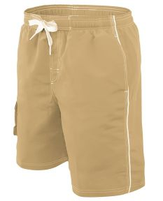 RISE Solid Male Flex Short - Color - Khaki,Size - Small