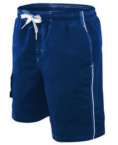 RISE Solid Male Flex Short - Color - Navy,Size - Medium