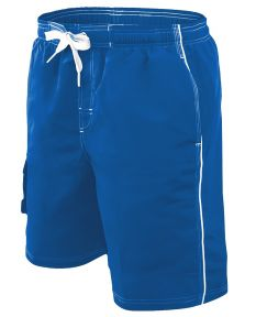 RISE Solid Male Flex Short - Color - Royal,Size - Small