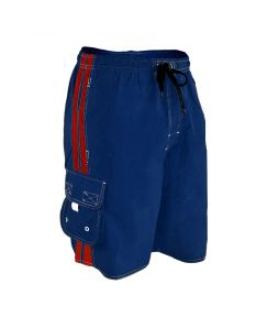 RISE Solid Splice Board Short - Color - Navy/Red,Size - Small