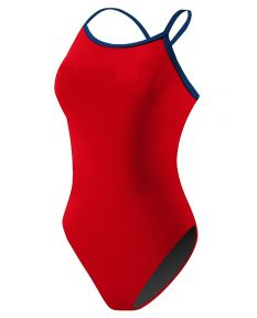 RISE Poly Color Trim H-Back - Color - Red/Navy,Size - 26