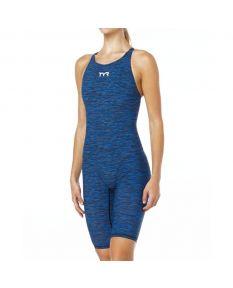 TYR Thresher Baja Female Open Back Suit-Blue-24