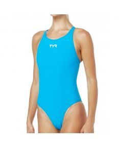 TYR Thresher Aeroback Swimsuit-Blue/Grey-20